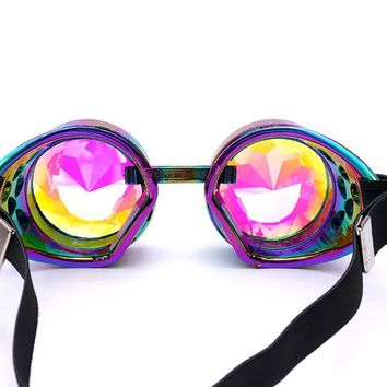 Women  Quality Rave Festival Party  Sunglasses Diffracted Lens Fashion