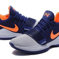 Nike Zoom PG 1 Gray/Navy/Orange Basketball Shoe