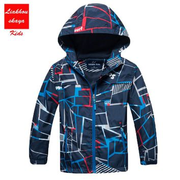 2017 New Children Boys/Girls Casual Windbreaker Jackets Coats Kids Outerwear Sporty With Hoodies Double-Deck Waterproof Clothes