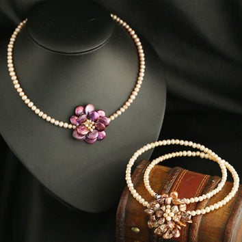 Stylish Jewelry Gift New Arrival Shiny Pearls Handcrafts Accessory Necklace [4914865732]
