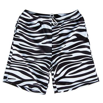 Zebra Print Sublimated Lacrosse Shorts