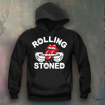 Rolling Stones Hooded Sweatshirt Funny and Music