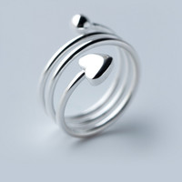 Fashion multi level 925 sterling silver ring