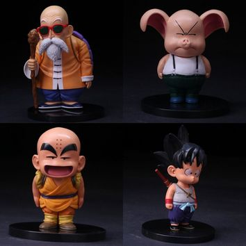 Anime Dragon Ball Z Son Goku Master Roshi Kuririn Oolong PVC Action Figure Collectible Model Toys 12~15cm Free Shipping