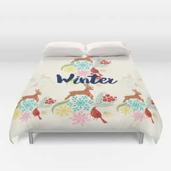Winter Duvet Cover by Famenxt | Society6