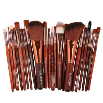 22 Pcs Pro Makeup Brush Set Powder Foundation Eyeshadow Eyeliner Lip Cosmetic Brush Kit Beauty Tools