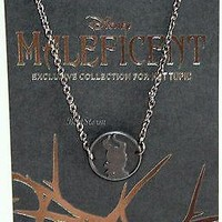Licensed cool NEW DISNEY MALEFICENT Silhouette CAMEO MEDALLION Necklace Black HOT TOPIC PROMO