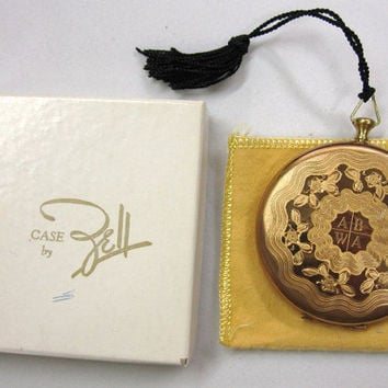 Vintage Zell Pocket Watch Compact ABWA American Business  Womens Association