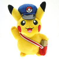 New Arrival 20cm Pokemon Pikachu Cosplay Postman Plush Toy Soft Stuffed Toys Dolls Christmas Gifts For Children Free Shipping