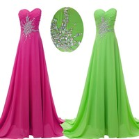 Sexy Beaded Bridesmaid Party/Evening/Pageant/Cocktail dress/Ball gown Prom Dress