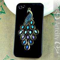 Iphone 4S case, Iphone 4 Case, Peacock Iphone Case