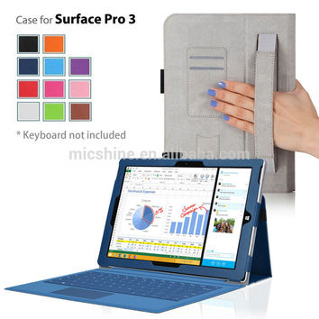 """New for Surface Pro 3 case cover,Stand leather case for Microsoft Surface pro tablet 12"""" +stylus+screen film+free shipping"""