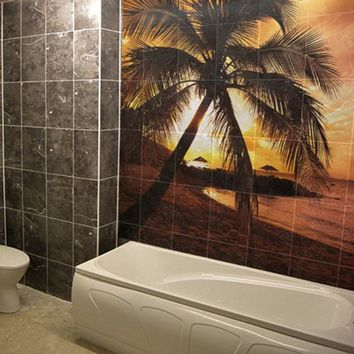 Custom Waterproof Tile Bathroom Art Decal Print - Bath Picture  Photo Wall Sticker Decor - Printable Glossy, Matt Sign Decals Personalised