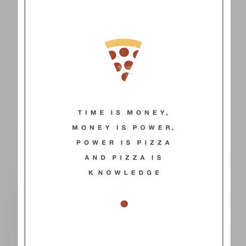 Parks and Recreation Poster // April Ludgate  // Pizza // The Pit // A4 // A3 // A2