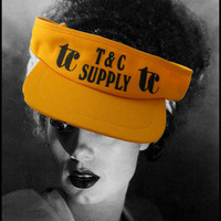 Vintage Yellow Visor- T & C Supply