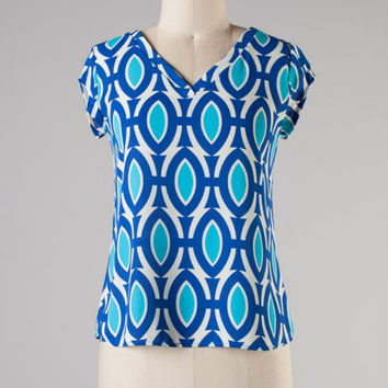 Eyes on Me Top -- Blue