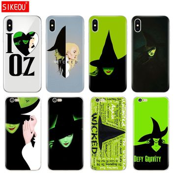 Silicone Cover Phone Case For Iphone 6 X 8 7 6s 5 5s SE Plus 10 Case Broadway Musical Wicked Lyrics