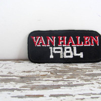 Vintage Van Halen 1984 Patch - Iron On / 1980s
