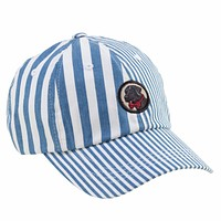 Patchwork Frat Hat in Blue Madras by Southern Proper