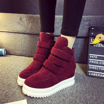 Height Increase Boots Sports High-top Casual Shoes Velcro [7993617153]