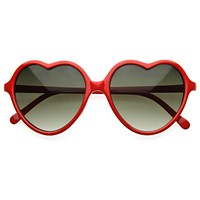 Large Thin Cute Womens Heart Shape Fashion Sunglasses 8468