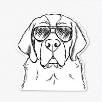 Barry the Saint Bernard - Decal Sticker