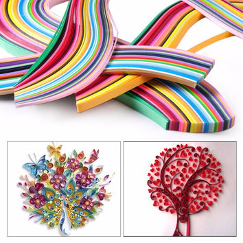 Colorful Paper Craft Art Quilling 360 Strips 36 Colors 540mm Length 3 5 7 10mm Width Create Beautiful Art DIY Home Party Decor
