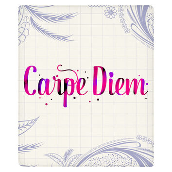 Carpe Diem II Fleece Throw