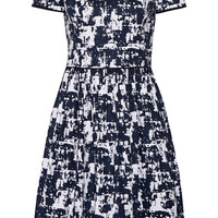 Oscar de la Renta - Printed stretch-cotton dress