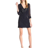 French Connection Women's Evissa Beading Dresses, Nocturnal, 10