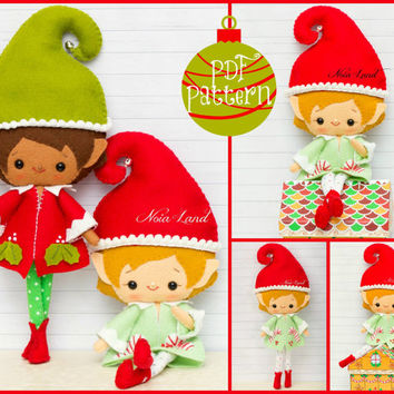 PDF Pattern. Chistmas Elves.
