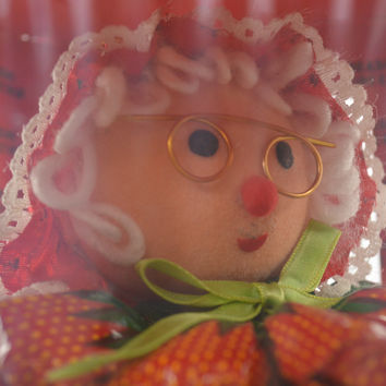Mrs Claus Strawberry Candy Christmas Ornament