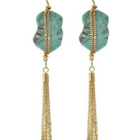 Turquoise Fringe Earrings