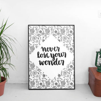 Adventure, wanderlust, Wall art prints, hand lettering prints, free shipping, drawing & illustration, art prints, wall decor