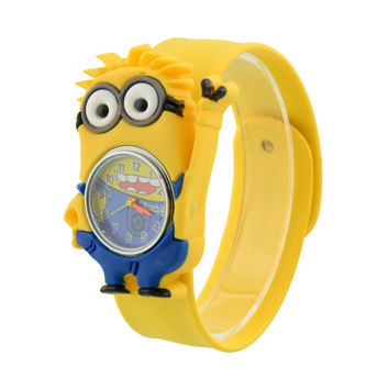 Minion Cartoon Gel Child Quartz for Kids - Unique Xmas Gift - Free Shipping