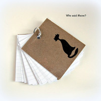 Mini Notebook/notepad - chipboard cover - Size 3x3.5 - Cats theme