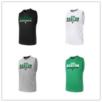 BONJEAN 11 Kyrie Irving Printed Jersey Top Quality Uniforms Sports Basketball Jerseys Breathable Quick Dry Training Shirts