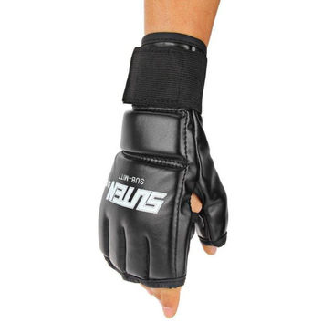 Premium Boxing Sports Gloves Gifts 1 Pair Men Thai Training Punching Bag Half Mitts Sparring Boxing Gloves Gym