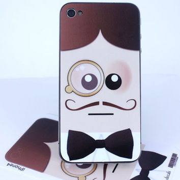 Gentleman Caller iPhone 4 / 4s skin by killerduckdecals on Etsy
