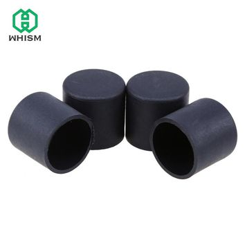 WHISM 4pcs Rubber Table Chair Furniture Feet Round Leg Pads Tile Floor Durable Ferrule Bottom Protectors 16/19/22/25mm