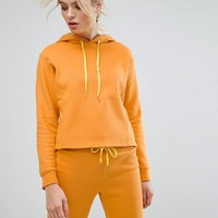 South Beach Crop Hoodie In Mustard at asos.com