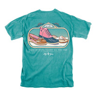 Rain or Shine Classy All the Time Tee in Seafoam by Lily Grace