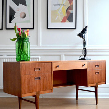 Vintage Danish Teak Desk / Dressing Table /Drawers/ Sideboard. Delivery. Midcentury/ Modern / Retro.