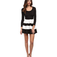Brigitte Bailey Long Sleeve Stripe Bell Dress