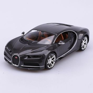 1/24 Scale Diecast Black Car Model Bugatti Chiron Black Special Edition Toys Gifts For Children Collections Free Shipping