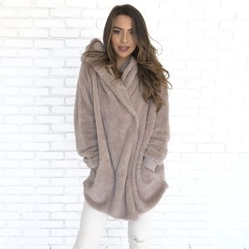 Warm As Can Be Fur Hoodie Jacket