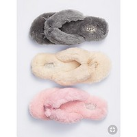 UGG Winter Popular Women Comfortable Keep Warm Wool Bow Slippers Shoes I/A