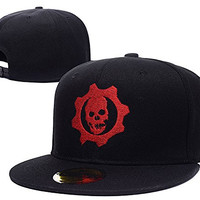 HAIHONG Gears Of War Logo Adjustable Snapback Caps Embroidery Hats