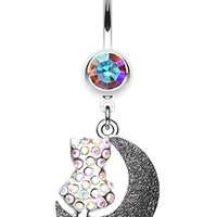 Moonlight Dream Kitty Belly Button Ring