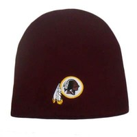 NFL Washington Redskins Cuffless Beanie Knit Toque Skully Hat Acrylic Adult